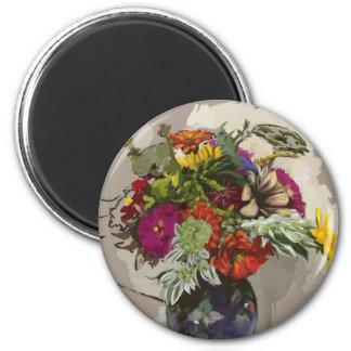 Flower Original Art Button Magnet