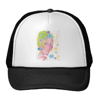 """Flower Original Painting Trucker Hat"