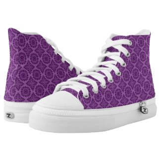 Flower ornament baroque violet 21102020 High-Top sneakers