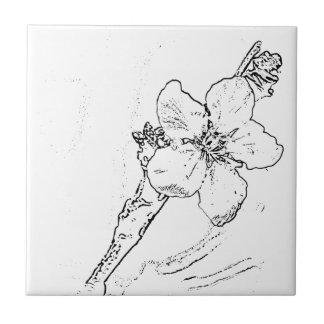 flower outline tiles