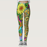 "Flower Page Mandala Leggings<br><div class=""desc"">Original drawn freehand,  then colored in photoshop.</div>"