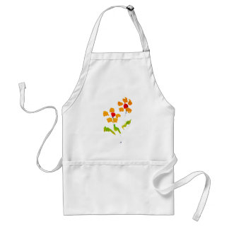 Flower painted by elephant adult apron