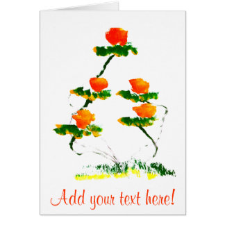 Flower painted by elephant card