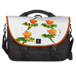 Flower painted by elephant commuter bag