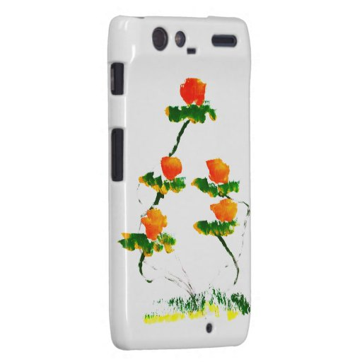 Flower painted by elephant droid RAZR covers