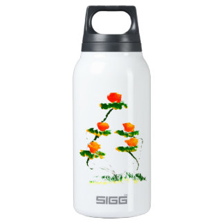 Flower painted by elephant insulated water bottle