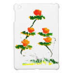 Flower painted by elephant iPad mini cover