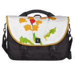Flower painted by elephant laptop bag
