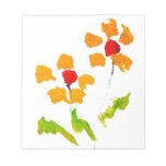 Flower painted by elephant memo notepad