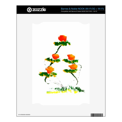 Flower painted by elephant NOOK decal