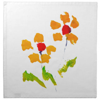 Flower painted by elephant printed napkins