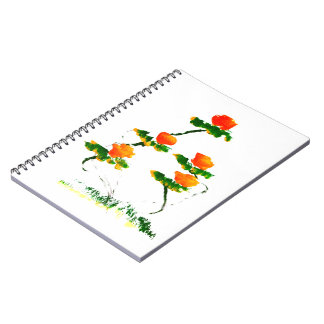 Flower painted by elephant spiral note books