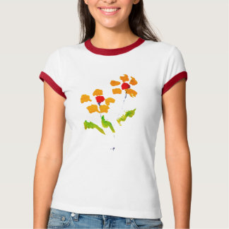 Flower painted by elephant t shirt