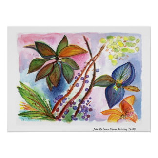 Flower Painting 74-09 Poster