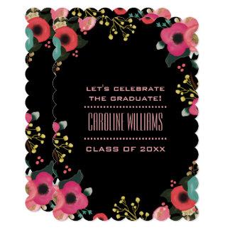 Flower Painting Custom Graduation Party Invitation
