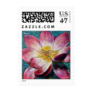 Flower Painting Lotus Small Postage