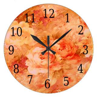 Flower Painting Round Clock