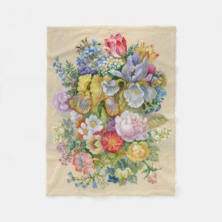 Flower Painting Small Fleece Blanket
