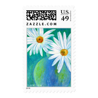 Flower Painting White Daisy Postage