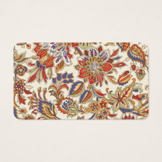 Flower Paisley Pattern Paisley Pattern Colorful Business Card