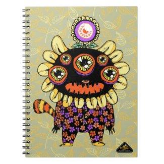 Flower Pajama Monster Notebook