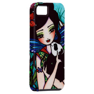 Flower Panda Bear Asian Fairy Art iPhone Case