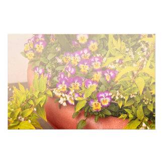 Flower - Pansy - Purple Posies jpg Personalized Stationery