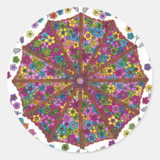 Flower Parasol Sticker