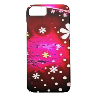 Flower Party Airbrush Art iPhone 7 Case