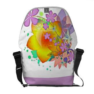 Flower Party Rickshaw Messenger Bag