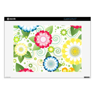 """Flower Patch Decals For 15"""" Laptops"""