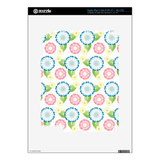 Flower Patch Decals For iPad 3