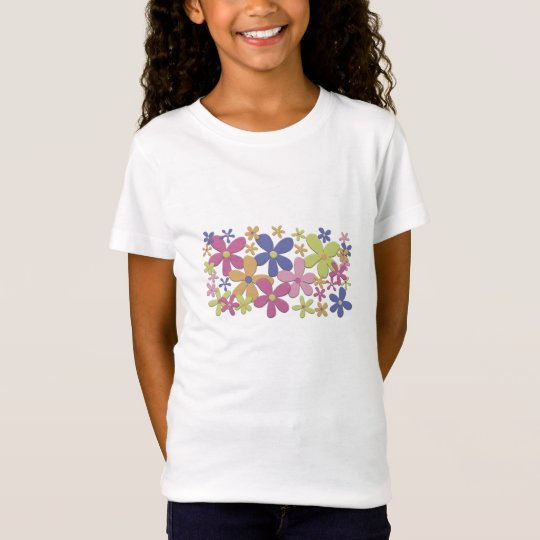 Flower Patch Girl's Baby Doll T-Shirt