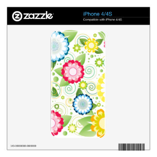Flower Patch Skin For iPhone 4S