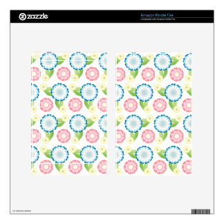 Flower Patch Skin For Kindle Fire