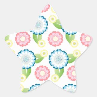 Flower Patch Star Sticker