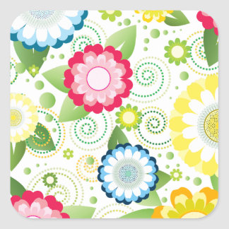 Flower Patch Square Sticker