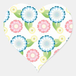 Flower Patch Heart Sticker