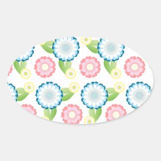 Flower Patch Oval Sticker