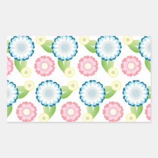 Flower Patch Rectangular Sticker