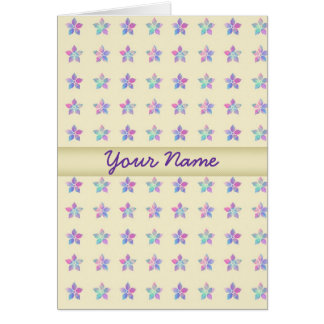 Flower Patch Yellow Pattern Greeting Card