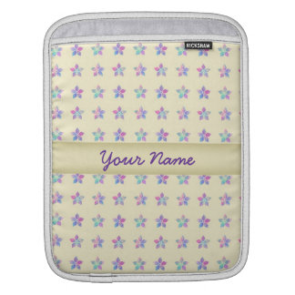 Flower Patch Yellow Pattern iPad Sleeves