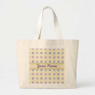 Flower Patch Yellow Pattern Jumbo Tote Bag