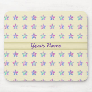 Flower Patch Yellow Pattern Mouse Pad