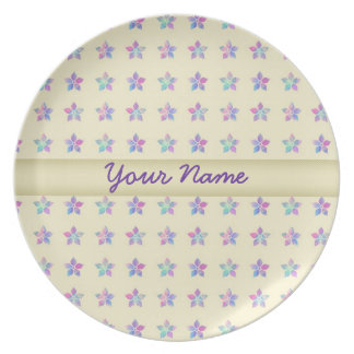 Flower Patch Yellow Pattern Party Plate