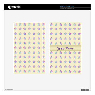 Flower Patch Yellow Pattern Skins For Kindle Fire