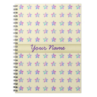 Flower Patch Yellow Pattern Spiral Note Books