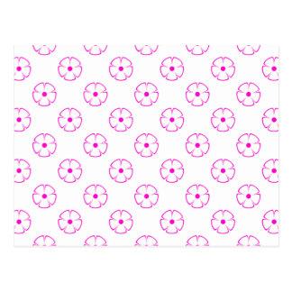 Flower Pattern 1 Pink Postcard