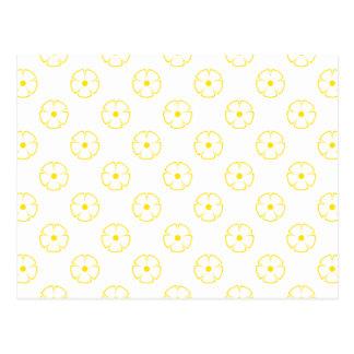 Flower Pattern 1 Yellow Postcard