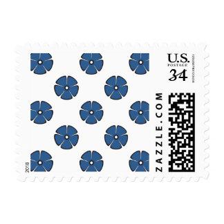 Flower Pattern 2 Bright Cobalt Postage